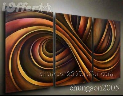 Framed! Modern Abstract Wall Art Oil On Canvas Painting For Sale With Abstract Wall Art Canvas (View 12 of 20)