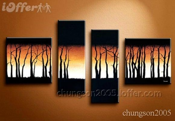 Framed! Modern Abstract Wall Art Oil On Canvas Painting For Sale Within Abstract Wall Art Canvas (Image 12 of 20)