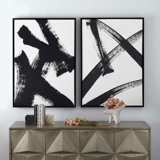 Framed Print – Abstract Running Man | West Elm Throughout West Elm Abstract Wall Art (Photo 15 of 15)
