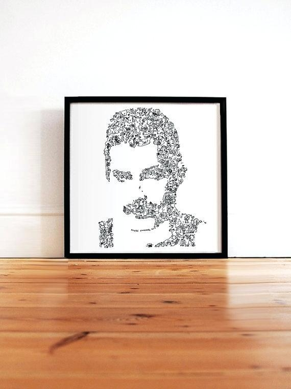 Freddie Mercury Wall Art Mercury Poster Queen Fine Art Print In Limited Edition Wall Art (View 13 of 20)