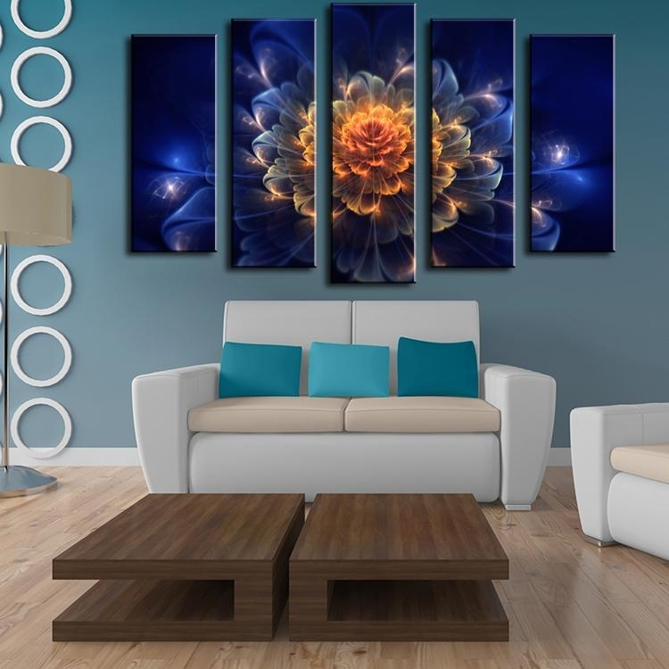 Free Abstract Flower Paintings Online | Free Abstract Flower Regarding Abstract Flower Wall Art (Image 11 of 15)