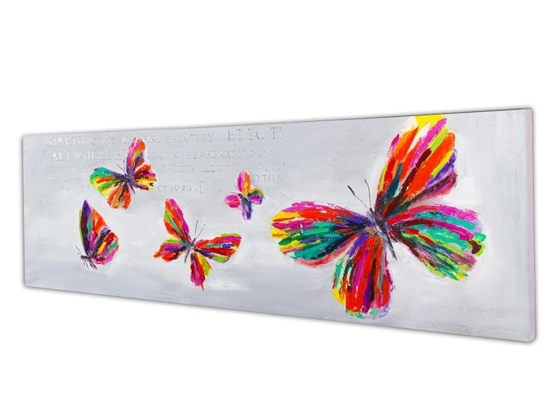 Free Shiping Abstract Butterfly Painting Handmade Home Decoration For Abstract Butterfly Wall Art (Image 10 of 20)