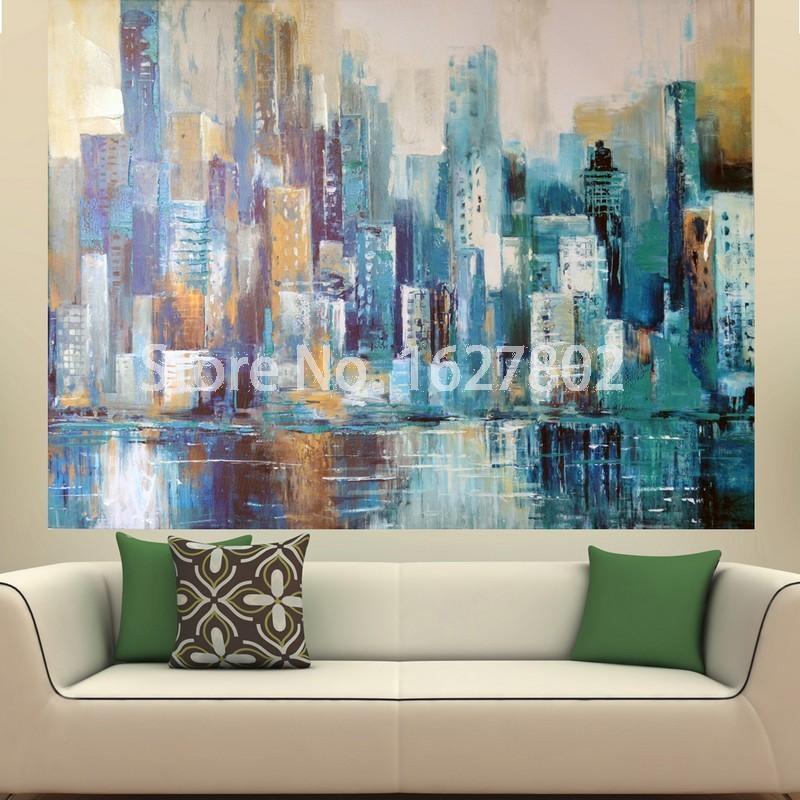 Fresh Ideas Large Abstract Wall Art With Landscape Painting Print Regarding Framed Abstract Wall Art (Image 13 of 20)
