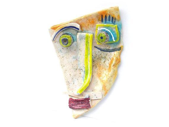 Geometric Wall Mask, Abstract Ceramic (Wall Art), 3D Wall Art Pertaining To Abstract Ceramic Wall Art (Image 13 of 16)