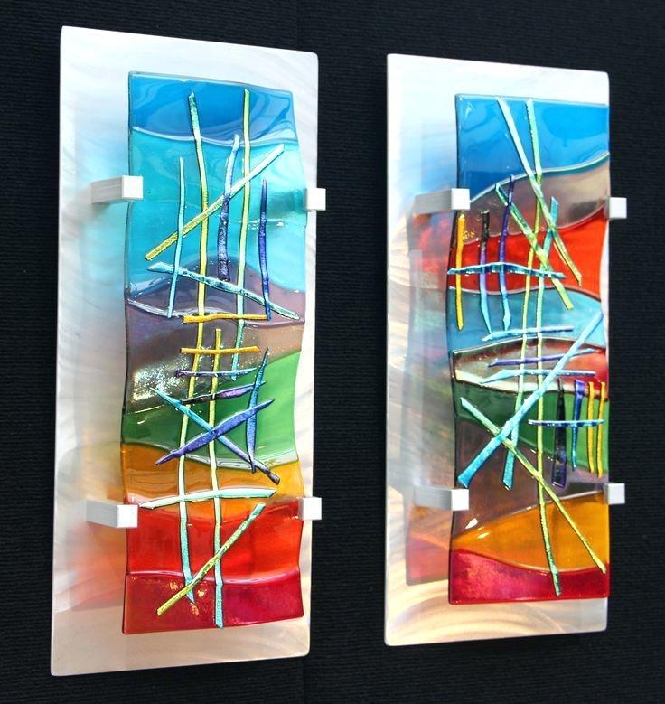 Glass Wall Decor Art Metal Abstract Wall Art Decor Glass 5 Panel Throughout Glass Abstract Wall Art (Image 11 of 15)