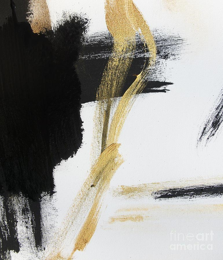 Gold Black And White Modern Abstract Paintingwall Art And Home Intended For Black And Gold Abstract Wall Art (Image 11 of 20)