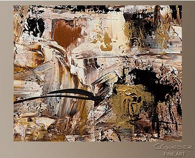 Hand Made Wall Art Touch Of Gold – Large Abstract Painting – Gold With Regard To Black And Gold Abstract Wall Art (Image 12 of 20)