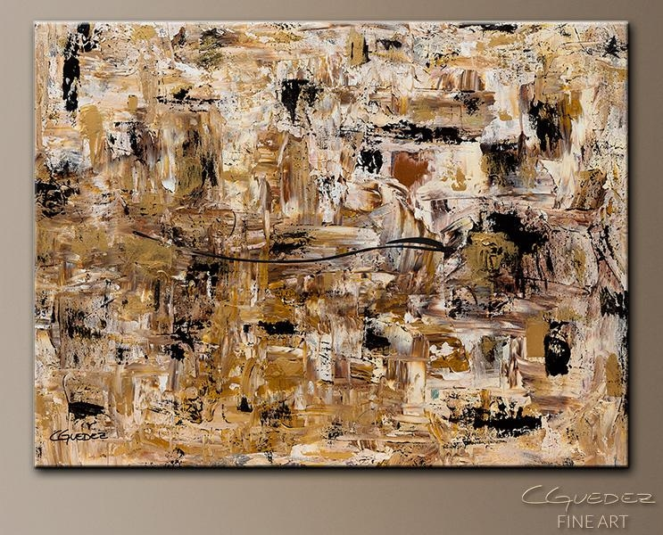 Hand Made Wall Art Touch Of Gold – Large Abstract Painting – Gold Within Black And Gold Abstract Wall Art (View 18 of 20)