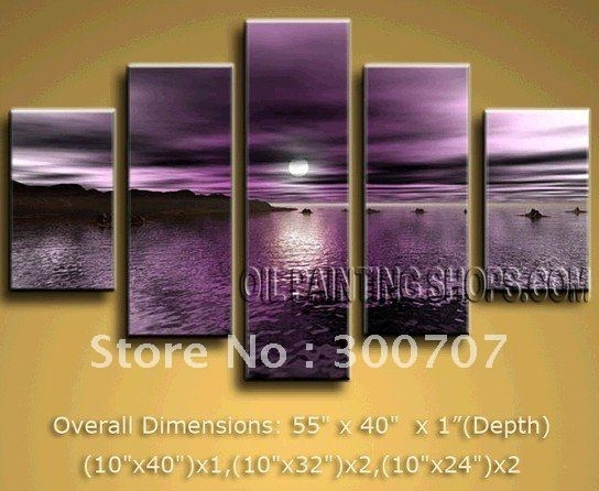 Featured Photo of Dark Purple Abstract Wall Art