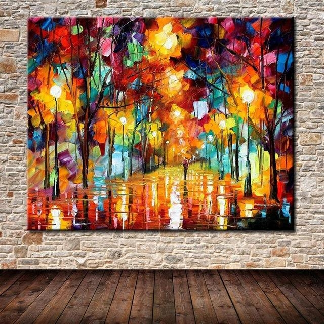 Hand Painted The Bright Light Modern Abstract Palette Knife Regarding Bright Abstract Wall Art (View 4 of 20)