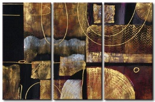 Hand Painted Wall Art Light Brown Walls Abstract Landscape Canvas Within Brown Abstract Wall Art (View 3 of 20)