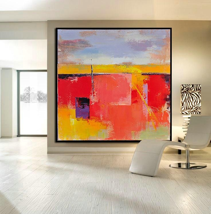 Handmade Large Contemporary Art Canvas Painting, Original Art With Acrylic Abstract Wall Art (View 15 of 20)