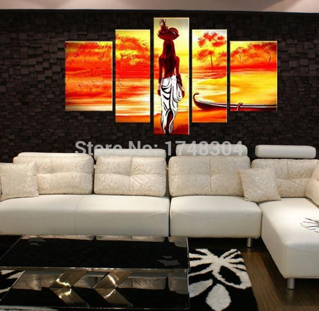 Handpainted Black Shadow Nude Oil Paintings Modern Abstract Naked In Abstract Body Wall Art (View 15 of 20)
