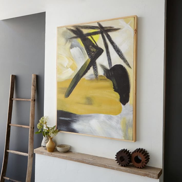 I Want That Wall! 5 Easy Steps To Hanging Art – Front + Main With West Elm Abstract Wall Art (Photo 3 of 15)