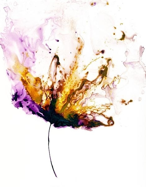 Image Result For Flower Painting Sponge | Florals And Flower Intended For Abstract Floral Wall Art (Image 10 of 15)