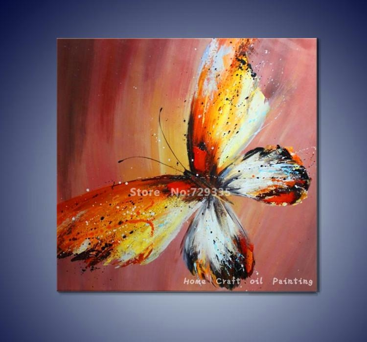 "Imax Worldwide Home ""lavinia Butterfly"" Oil Painting – Google In Abstract Butterfly Wall Art (View 10 of 20)"