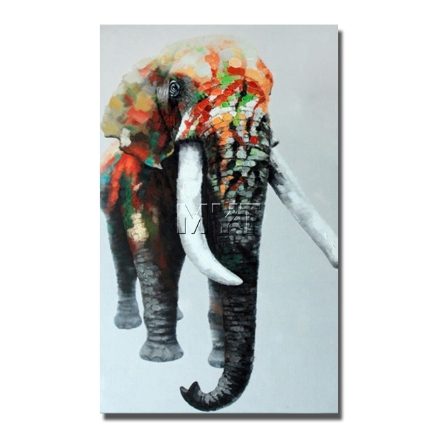 Indian Elephant Wild Animal Wall Art Paintings Dropship For With Abstract Elephant Wall Art (Image 11 of 15)
