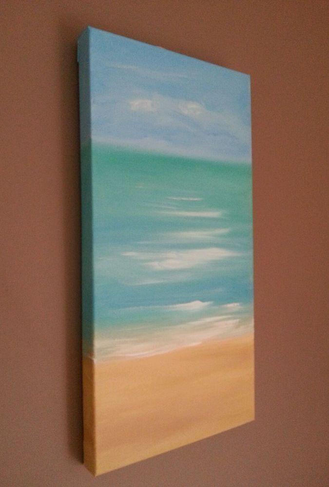 Jayne Wharton Original Painting Abstract Beach Canvas Art Sea Regarding Abstract Beach Wall Art (View 18 of 20)