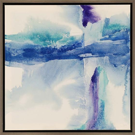 Jewel Tones Framed Wall Art With Blue Abstract Wall Art (Image 9 of 20)