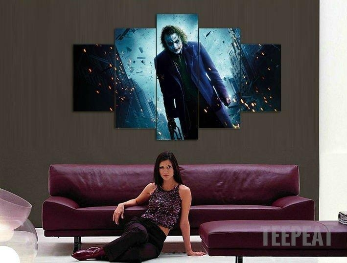 Joker In Gotham – 5 Piece Canvas Limited Edition | Gotham, Joker Within Limited Edition Canvas Wall Art (View 3 of 20)