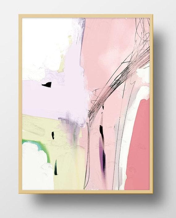 Large Abstract Art, Printable Abstract Art, Hand Painted, Acrylics With Printable Abstract Wall Art (Image 8 of 15)