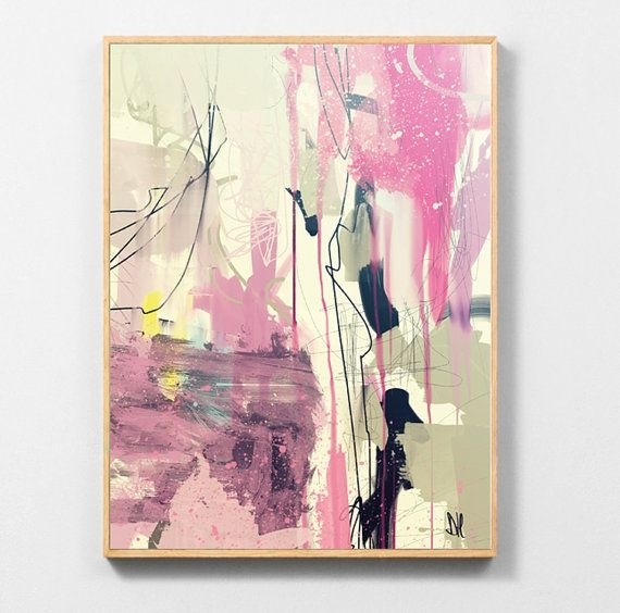 Large Abstract Art, Printable Abstract Wall Art, Hand Painted Intended For Printable Abstract Wall Art (Image 9 of 15)
