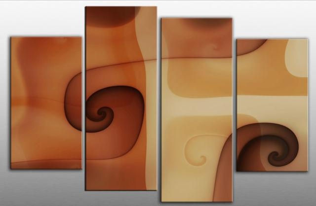 Large Abstract Brown Terracotta Beige Canvas Wall Art Picture For Brown Abstract Wall Art (Photo 18 of 20)