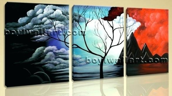 Large Abstract Canvas Art New Arrival Modular Large Abstract World Regarding Large Abstract Wall Art Australia (Image 7 of 20)