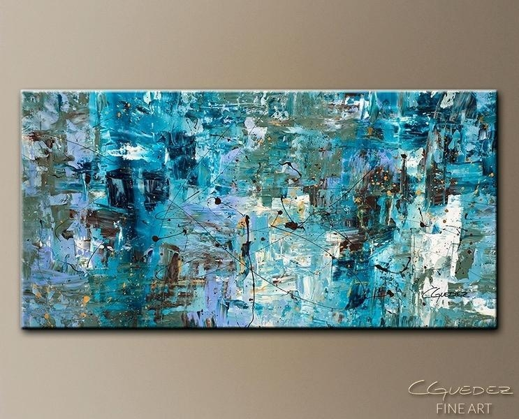 Large Abstract Wall Art #13256 Pertaining To Blue Green Abstract Wall Art (View 4 of 20)