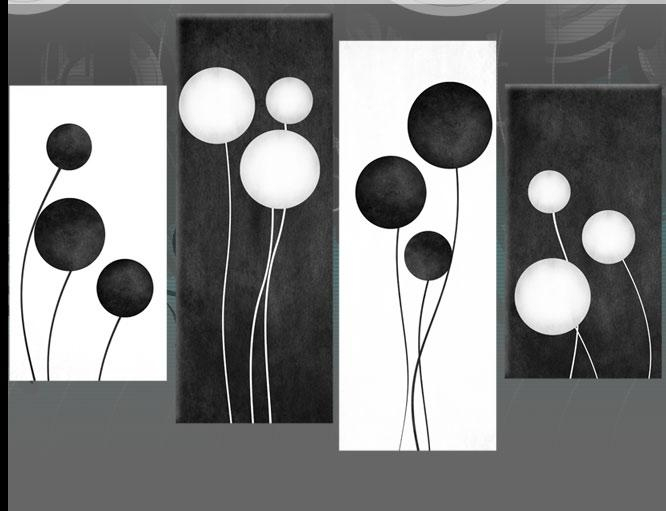 Large Black And White Abstract Circles Canvas Pictures Wall Art with regard to Black And White Abstract Wall Art
