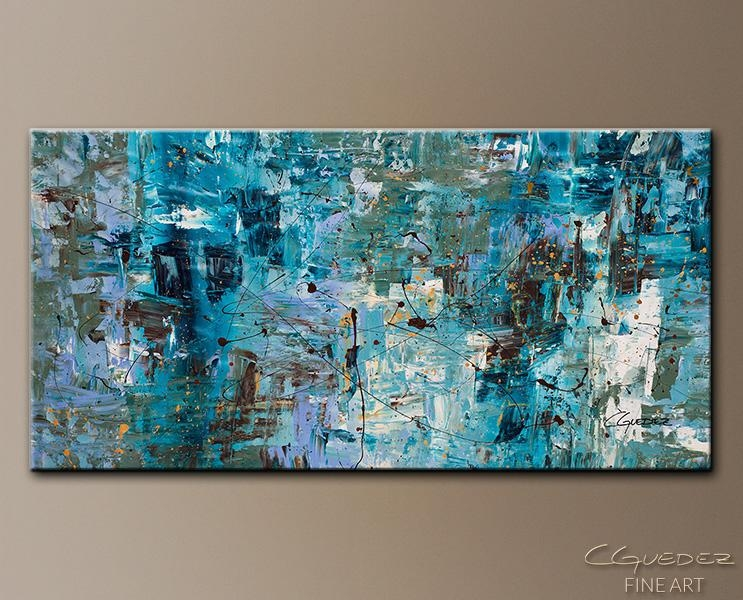 Large Paintings For Sale – Oversized Abstract Art Paintings With Blue Canvas Abstract Wall Art (View 3 of 20)