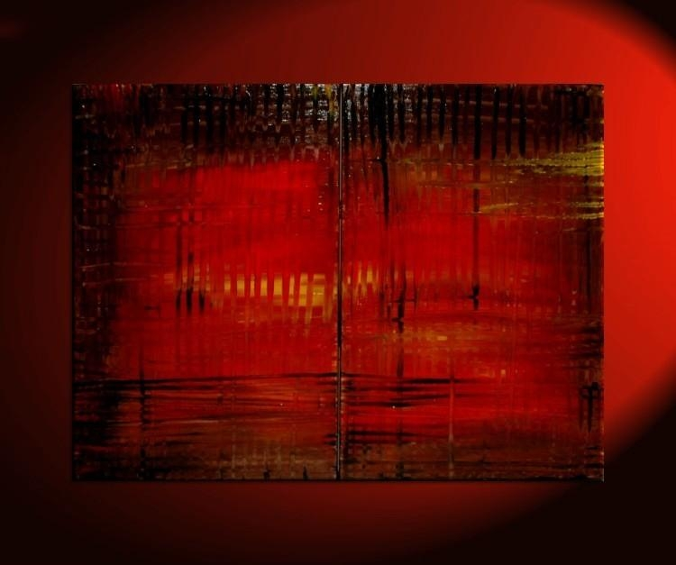 Large Red Abstract Painting Bold Modern Original Textured Huge With Bold Abstract Wall Art (Image 16 of 20)