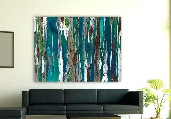 Large Teal Wall Art – Boyintransit Pertaining To Extra Large Canvas Abstract Wall Art (Image 10 of 15)