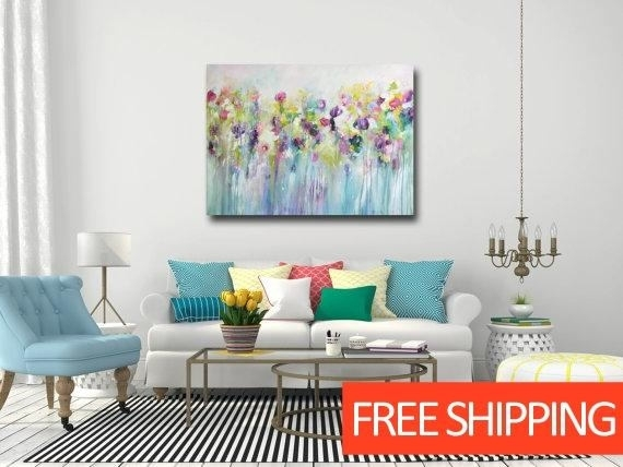 Large Wall Art Canvas Art Abstract Floral Canvas Print In Abstract Floral Canvas Wall Art (Image 12 of 15)