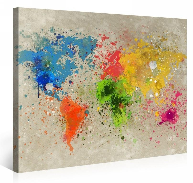 Living Room : Amazing Christmas Wall Art Canvas Wall Art Canvas Pertaining To Brisbane Abstract Wall Art (Image 9 of 20)