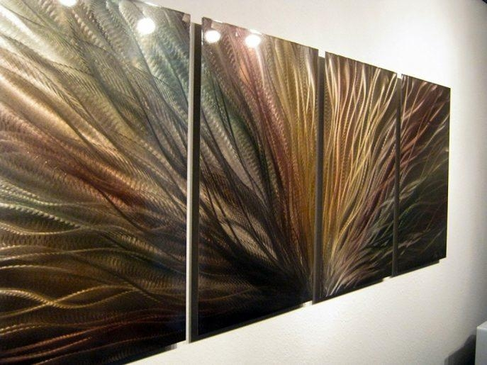 Living Room : Amazing Metal Wall Art Blessed Metal Wall Art With Regard To Brisbane Abstract Wall Art (Image 12 of 20)