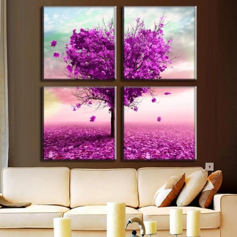 Living Room : Wonderful Dark Purple Wall Art Purple Baby Wall Art Within Dark Purple Abstract Wall Art (Image 13 of 15)