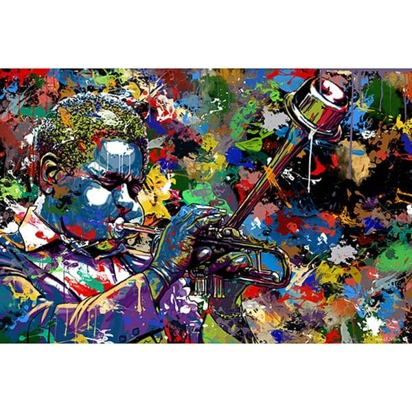 Maxwell Dickson 'jazz' Limited Edition Canvas Wall Art – Free Intended For Limited Edition Canvas Wall Art (View 7 of 20)