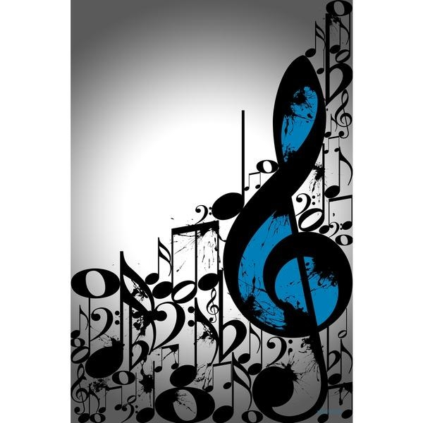 Maxwell Dickson 'music Notes' Typography Wall Art | Art Work In Abstract Musical Notes Piano Jazz Wall Artwork (View 8 of 20)