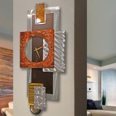 Metal Art Clocks Modern Abstract Clock Metal Wall Art Sculpture Pertaining To Abstract Clock Wall Art (View 15 of 20)