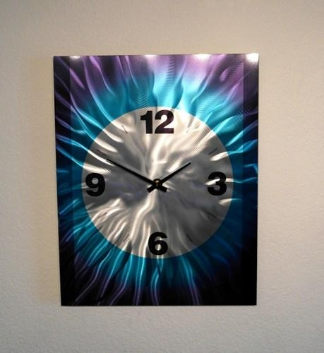 Metal Art Wall Art Decor Abstract Contemporary Modern Wall Clock With Abstract Clock Wall Art (View 5 of 20)