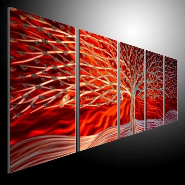Metal Modern Abstract Wall Art Painting Sculpture Decor Metal In Sculpture Abstract Wall Art (Image 10 of 20)