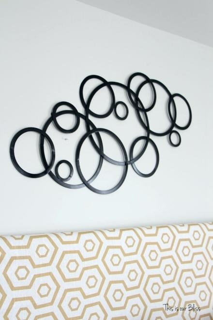 Metal Wall Art Circles – Hydroloop For Circle Bubble Wave Shaped Metal Abstract Wall Art (Image 18 of 20)