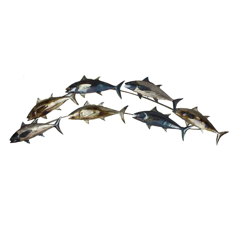Metal Wall Art In Abstract Metal Fish Wall Art (View 7 of 15)