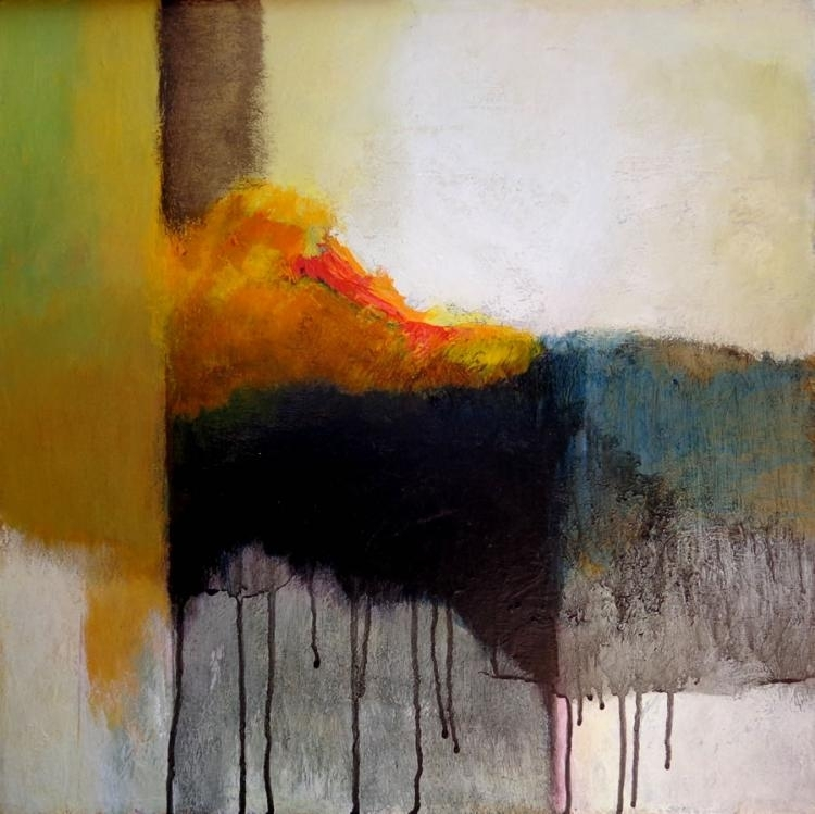 """Mexican Abstract Expressionist Painter Eduardo Zuniga Paints """"Mad Regarding Abstract Expressionism Wall Art (Image 13 of 15)"""
