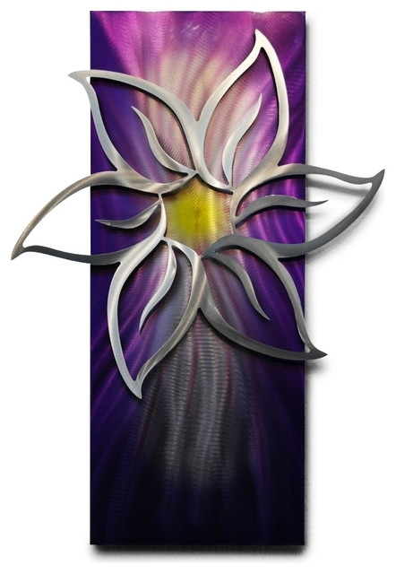 Miles Shay – Metal Wall Art Decor Abstract Contemporary Modern With Abstract Flower Metal Wall Art (Image 7 of 15)