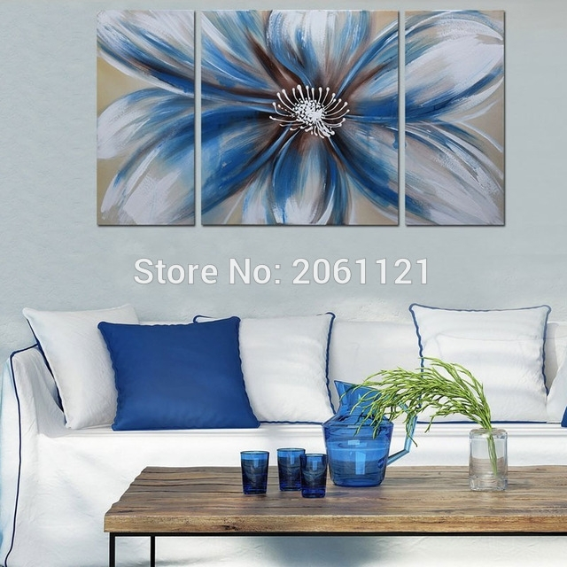 Modern 100% Hand Painted Artwork Abstract Floral Oil Paintings For Abstract Floral Canvas Wall Art (View 9 of 15)