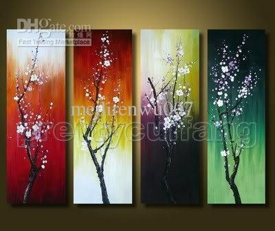 Modern Abstract Huge Wall Art Oil Painting On Canvas Feng Shui Intended For Abstract Fish Wall Art (View 13 of 15)