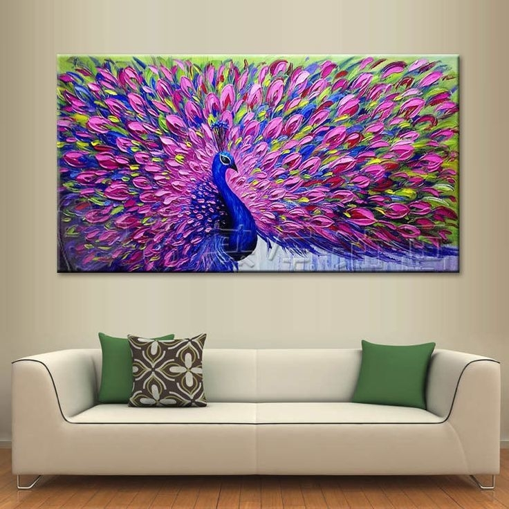 Modern Abstract Large Wall Decor Oil Painting On Art Canvas Within Large Framed Abstract Wall Art (View 13 of 15)