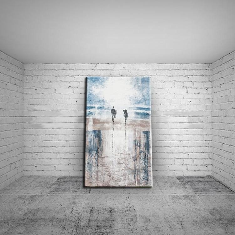 Modern Art Abstract Landscape Abstract Beach Oil Painting On Intended For Abstract Beach Wall Art (View 4 of 20)